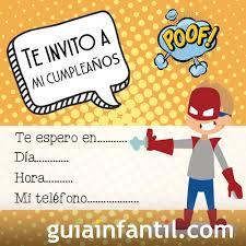 Invitacion De Cumpleanos Con Superheroes