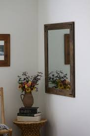 large wood mirror large rustic wall