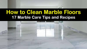 17 clever ways to clean marble floors