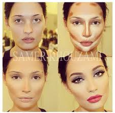 what makeup for contouring face