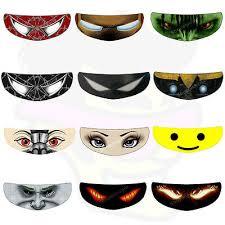 Skullskins Venom Hulk Batman Perforated Motorcycle Helmet Visor Shield Sticker Ebay
