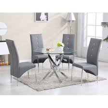 dining table with 4 vesta grey chairs