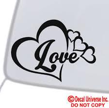 Love Heart Symbol Vinyl Decal Car Window Bumper Sticker Family Infinity Forever For Sale Online