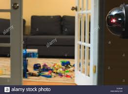 Surveillance System Or Security Camera Inside Of The Children Chamber Cctv Camera Installed On The Wall Of The Living Room Kids Area Protection By G Stock Photo Alamy