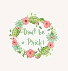 Don T Be A Prick Decal Car Decal Yeti Decal Tumbler Decal Cactus C Sparkle Baby Love