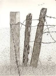 Barb Wire Fence Drawings Fine Art America