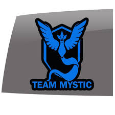 Pokemon Go Inspired Team Mystic Games 5 Year Outdoor Vinyl Sticker Decal Slomo Swag Apparel Stickers And More