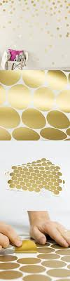 Easy Peel Stick Gold Wall Decal Dots 2 Inch 200 Decals Safe On Walls Paint Metallic Vinyl Polka Dot De Polka Dot Decor Gold Wall Decals Round Decor
