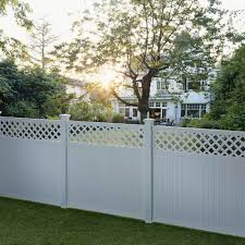 Outdoor Essentials Picketlock Olympia 6 Ft H X 6 Ft W Whtie Vinyl Lattice Top Fence Panel In The Vinyl Fence Panels Department At Lowes Com