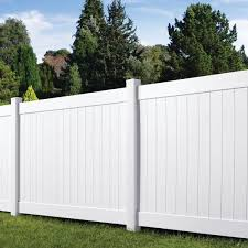 Veranda Linden 6 Ft H X 8 Ft W White Vinyl Pro Privacy Fence Panel Kit 73013298 The Home Depot