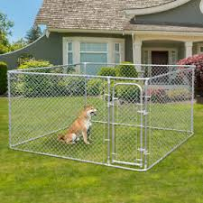 Durable Metal Fences Outdoor Large Dog Kennel Cage Pet Pen Run House Cage Pen Ebay
