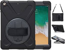 Amazon.com: iPad Air Case, TSQ Air 1 Heavy Duty Shockproof Hard Carrying  Rugged Protective Case Cover for Kids with 360 Degree Rotating Stand,  Handle Hand Strap&Shoulder Strap,Air 1st Gen A1474 A1475 A1476