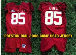 Preston Dial Game Used Alabama Crimson Tide Home Jersey