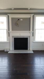 gas fireplace with rfs surround mantle