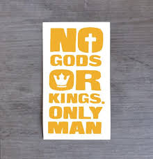 Bioshock Sticker No Gods Or Kings Only Man Vinyl Decal For Car Etsy