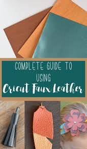 how to use cricut faux leather