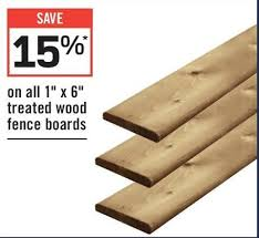 Rona All 1 X 6 Treated Wood Fence Boards Redflagdeals Com