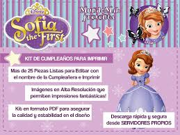 Mini Kit Imprimible Princesa Sofia Gratis Para Descargar Mundo
