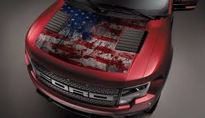 Product Ford Raptor F 150 Hood Graphics Usa Flag Vinyl Decal
