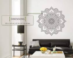Amazon Com Kuarki Flower Mandala Wall Decal Geometric Wall Sticker Geometric Art Decal Minimalist Hq Home Kitchen