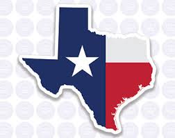 Texas Flag Decal Etsy