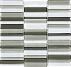 straight stacked glass mosaics