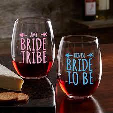 Bride Tribe Personalized Wine Glasses
