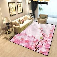 Amazon Com Nature Home Decor Mats Japanese Garden In Spring Kids Playing Mats In Bedroom Living Room W3 X L5 Feet Kitchen Dining