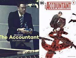 DC is adapting Ben Affleck's The Accountant into a comic. Credit to:  @AlbiLibertea via Tweeter. : DC_Cinematic
