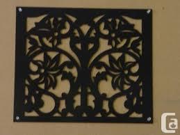 Square Black Metal Gate Inserts Decorative Fence Inserts Fence Art Black Metal Decor