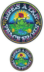 Amazon Com Enjoy It Peace Frogs Life S A Trip Peace Frogs Car Sticker Outdoor Rated Vinyl Sticker Decal For Windows Bumpers Laptops Or Crafts Toys Games