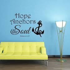 Hope Anchors The Soul Hebrews 6 19 Wall Decal Divine Walls