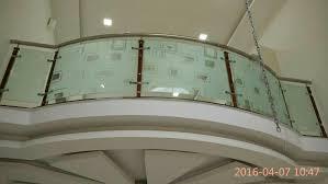 bent gl balcony railing work with