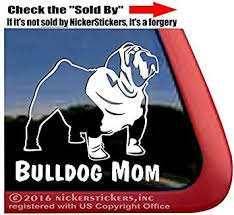 Amazon Com Bulldog Mom Dog Vinyl Window Auto Decal Sticker Automotive