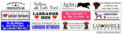 Labrador Signs Stickers And License Plate Frames