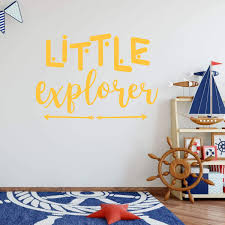 Little Explorer Quote Arrow Childplayroom Bedroom Vinyl Decor Wall Decal Customvinyldecor Com