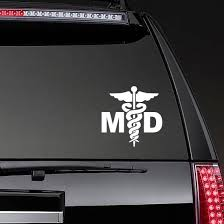 Medical Doctor Hospital Sign Md Symbol Sticker