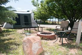 funstays glamping setup tent in rv