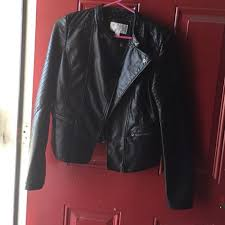 black xhilaration leather jacket