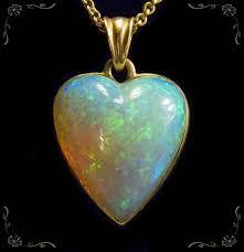14 k fire opal heart pendant heart