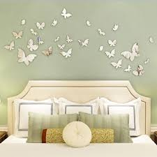 Silver Mirror Wall Art Wall Stickers Decal Butterflies Home Decors Preecz Dh For Sale Online