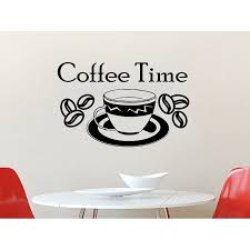 Shop Coffee Time Vinyl Sticker Decals A Cup Of Coffee Kitchen Cafe Canteen Home Sticker Decal Size 48x65 Color Black Overstock 14091658