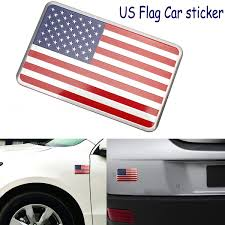 1pcs Car Styling Sticker Us Flag Decal Car Sticker Emblem Badge Made From Aluminum Alloy Perfect Decoration And Protection For Your Car Wish