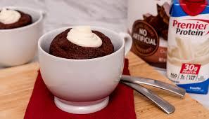 premier protein red velvet mug cake