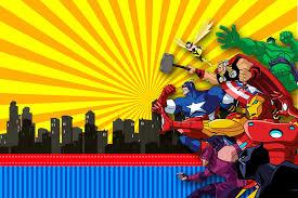 Los Vengadores Comic Invitaciones De Fiesta Para Imprimir Gratis