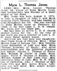 Myra Thomas Jones Obituary - Newspapers.com