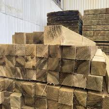 Treated Fence Post 75mm X 75mm 3x3 X 1 8m Cleveland Timber