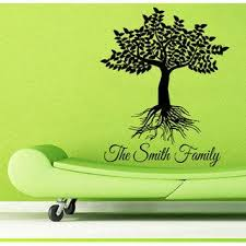 Shop Name Decals Family Tree Roots Decor Floral Interior Home Decor Vinyl Art Wall Kids Room Sticker Decal Size 48x57 Color Black Overstock 14650632