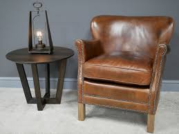aged vintage leather sofas chairs