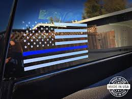 Thin Blue Line Decal Flag Usa Vinyl Die Cut Etsy